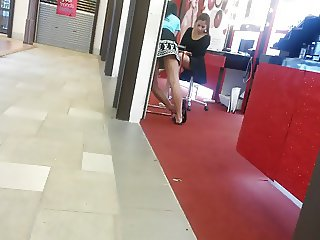 2 girls at cosmetics shop