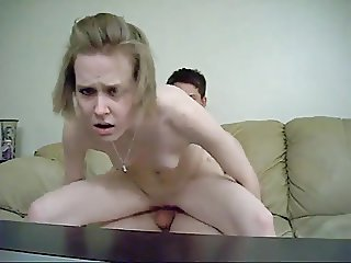 Young couple homemade porn when parents are not there