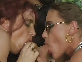 Bea Dumas&Carol Bentley - 3some with 2 boys