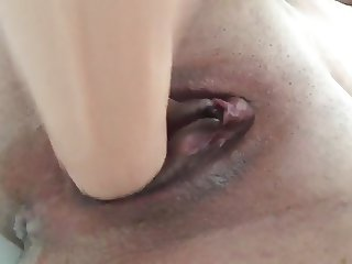 Wife's Wet & Squirting pussy with dildo