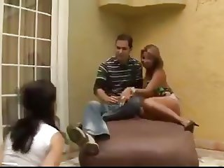 STR8 COUPLE HUMILIATE BRAZILIAN BITCH
