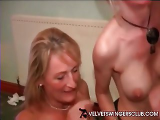 Velvet Swingers Club European gangbang party with my wife