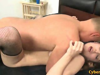 Filthy Slut Fucked By Lucky Old Dick