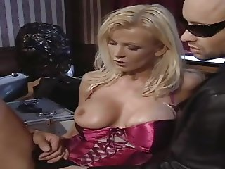 Big Titted German Girl Fucks Two Guys