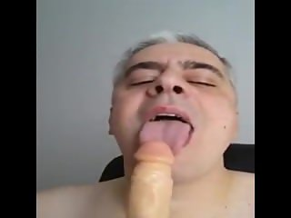 Man sucking cock like a crazy until.....
