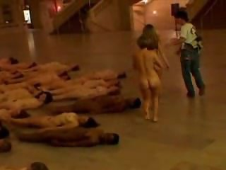 Spencer Tunick - nude installation at Grand Central Terminal