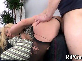 sticking a cock deep in the wet pussy hole