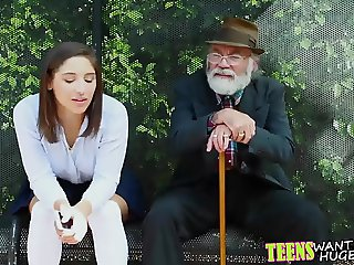 Abella Danger gets fucked and facialized at the bus stop