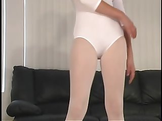 pantyhose and leotard tease 3