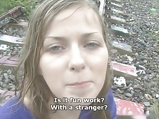 Sweet cute Czech girl gets fucked in the rain