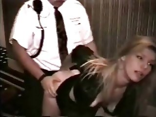Wife fucked by the guard at the hotel corridor
