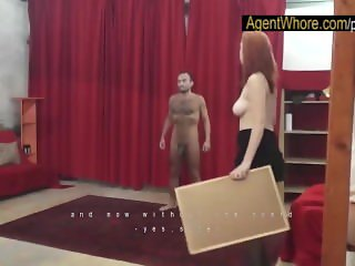 Redhead Agent Whore makes this guy really horny