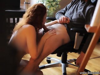 Redhead Knows How To Blowjob