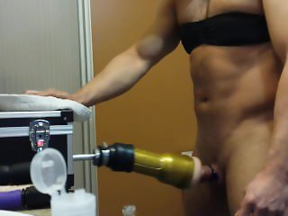 First time on PornHub with my fleshlight and the fucking machine