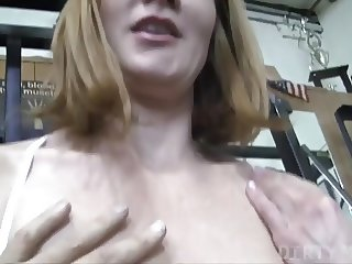 Redhead Gets Help in the Gym