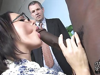 Sexy wife takes BBC while cuckold watch