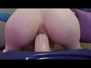 girl dildoing her ass