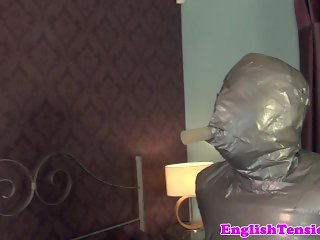 Mummification mistress whips and jerks sub