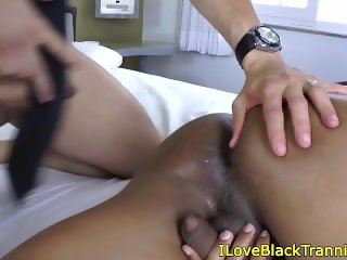 Nubian tgirl tranny getting her ass pounded