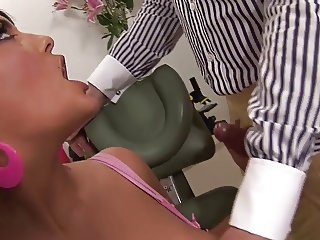 Big boobs bimbos take turns getting drilled hardcore in a FFM sex