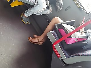 Sexy teen feet in bus pt.1