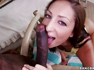 Angelica Saige takes her first big black dick
