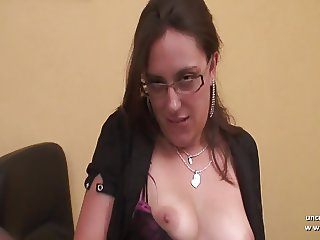 Pretty amateur french brunette ass gaped and hammered