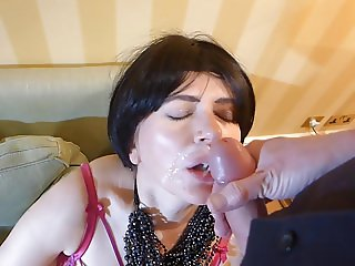 Milf in Louboutin thigh boots orders a Room Service Cock