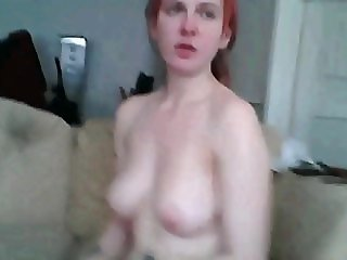 1fuckdatecom Redhead camslut gets her mouth