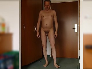 237 Redbube Man posing shamelessly ago web camera shows penis big dick nude