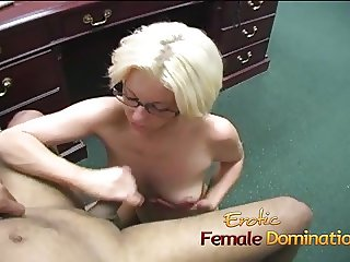 Lusty slut used her hands on this guys stiff dick