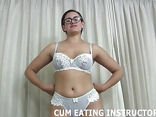 It so hot watching you eat your own cum CEI