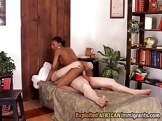 Booty black babe savagely doggyfucked