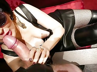 thigh booted milf orders hotel blowjob