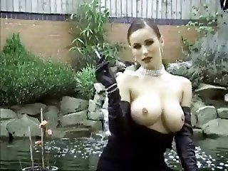 RARE kyla in gloves smoking