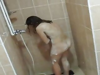 man with cam in girls shower IV