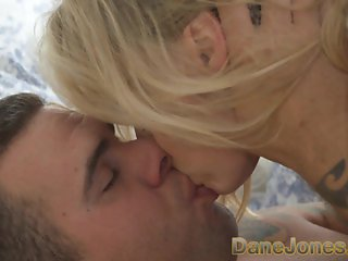 DaneJones Beautiful slim blonde worships boyfriend and his big fat cock
