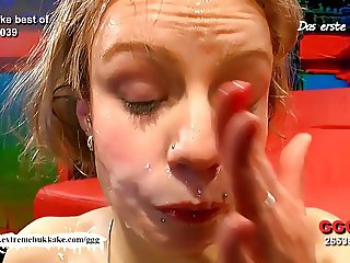 Young Meli's Cum shower -  Extreme Bukkake