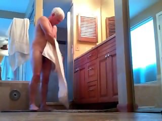 Friends husband in shower