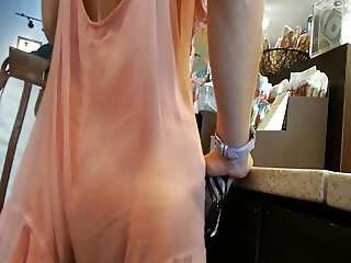 Starbucks teen VPL sheer