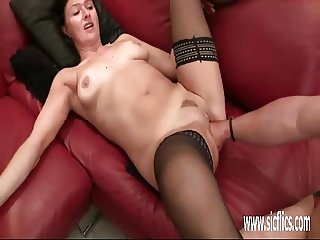 Fisting the wifes cavernous loose pussy