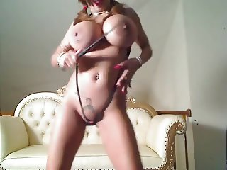 Busty Asian Dancing & Stripping