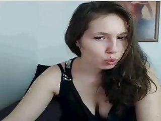 Young Girl with Big Boobs in Webcam, flash tits