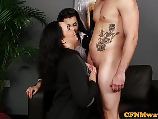Bigtitted CFNM euro titfucking patients cock
