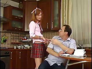 STP1 Daddy Checks Her Schoolwork And She Gives Him A Fuck !