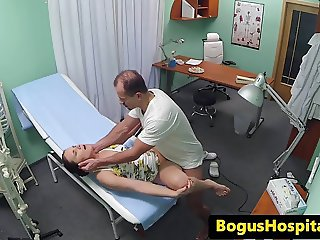 Euro nurse pussyfucked by doctor in office