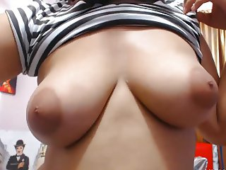 Busty Latina playing Dildo in Stock Net! Pt. 1
