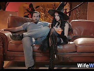 Young Wife gets some New Dick on Halloween
