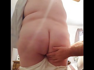 feeling her soft tits,nipples, hairy pussy, belly & soft ass