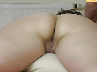 wifes big butt massage, finger in asshole